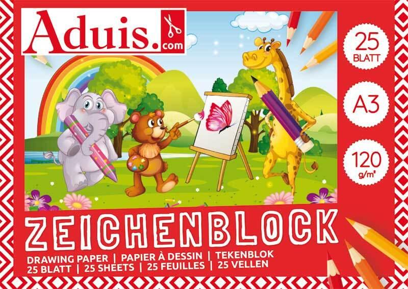 Aduis Zeichenblock - 25 Blatt, A3