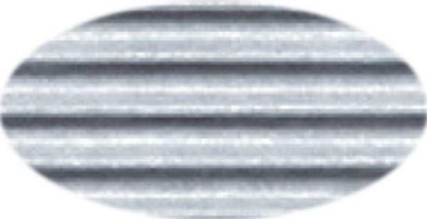 Carton ondulé - 50 x 70 cm, 1 feuille, argent