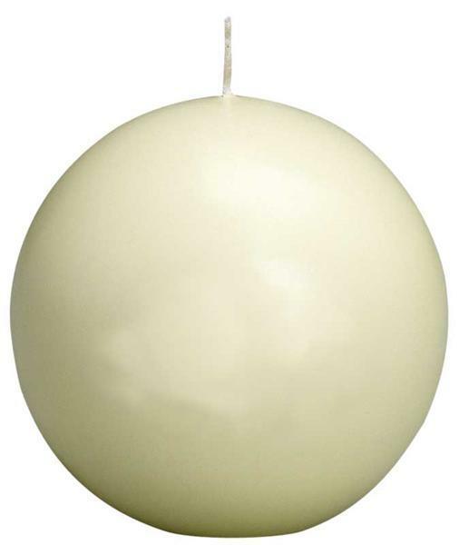 Kugelkerze - Ø 70 mm, elfenbein