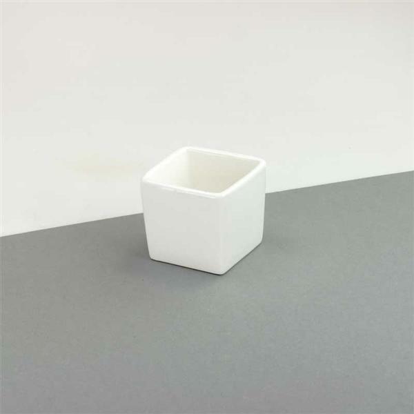 Pot carré porcelaine, env. 6 cm
