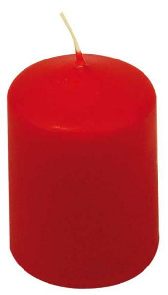 Bougie cylindrique - 60 x 40 mm, rouge
