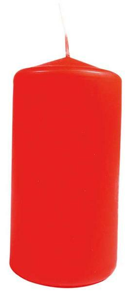 Bougie cylindrique - 100 x 50 mm, rouge