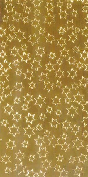 Verzierwachsplatte - Sterne, gold glänzend