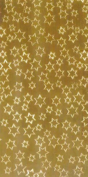Versierwasplaat - sterren, goud glanzend