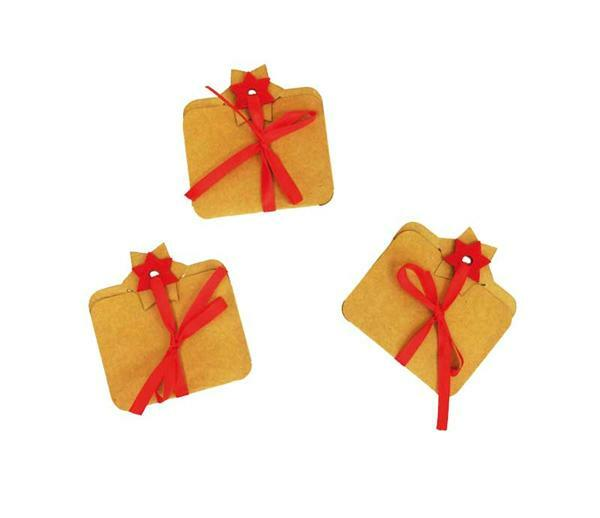 Geschenk-Kärtchen - 3 Stk., rot