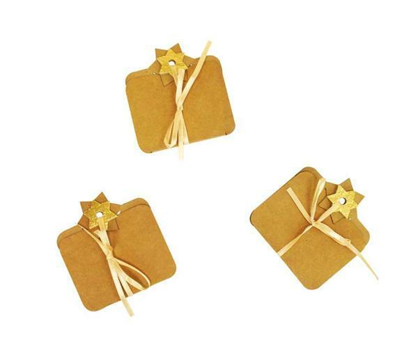 Carton-cadeaux - 3 pces, or