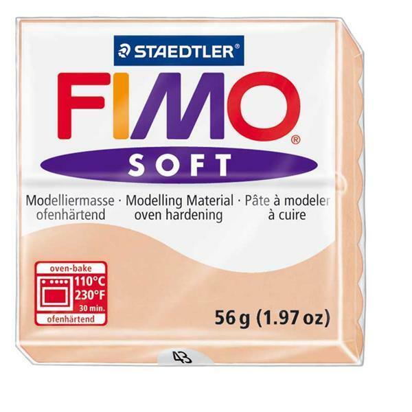 Fimo Soft - 57 g, lichte huidskleur