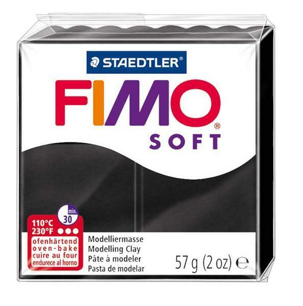 Fimo Soft - 57 g, zwart
