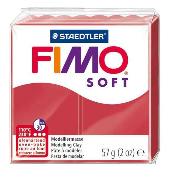 Fimo Soft - 57 g, kersenrood