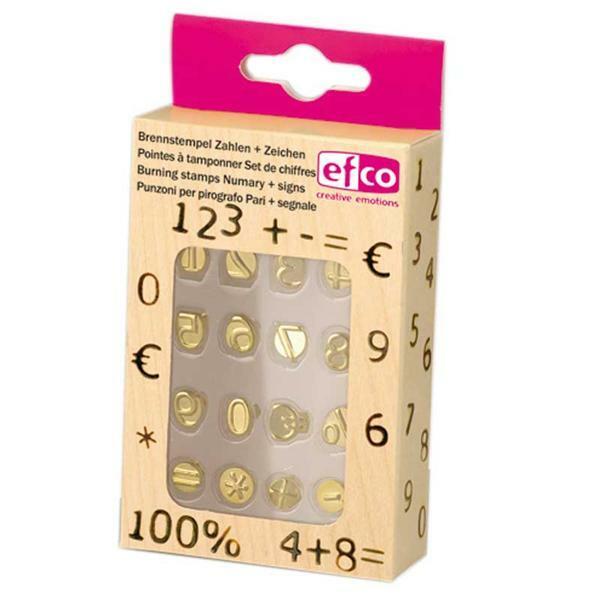 Brandstempel getallen-set, 0-9 en speciale tekens
