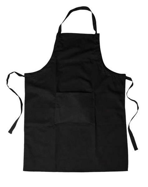 Kinderschürze, ca. 55 x 70 cm, schwarz