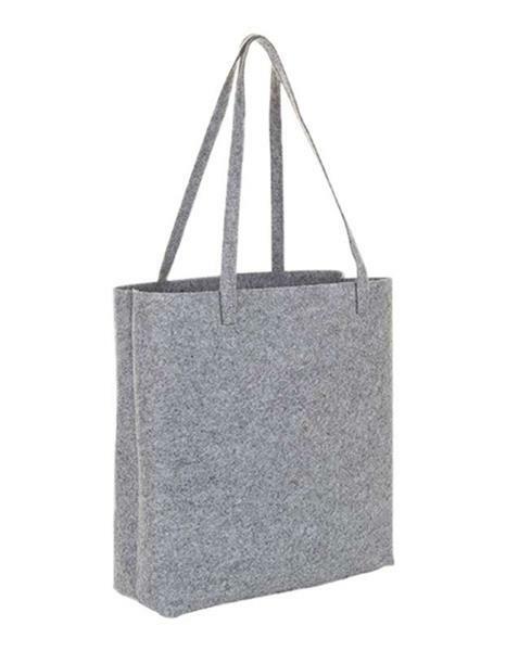 Vilten tas - 37 x 12 x 40 cm cm, dikte 3 mm, grijs