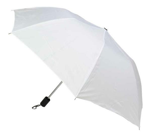 Zakparaplu, Ø 85 cm, lengte 32 cm, wit