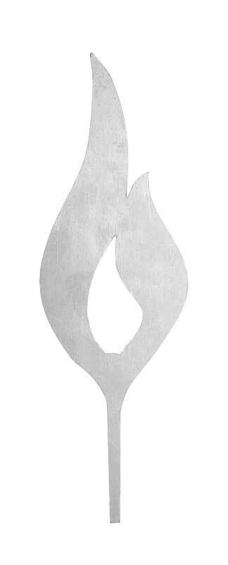 Flamme en métal, 225 mm