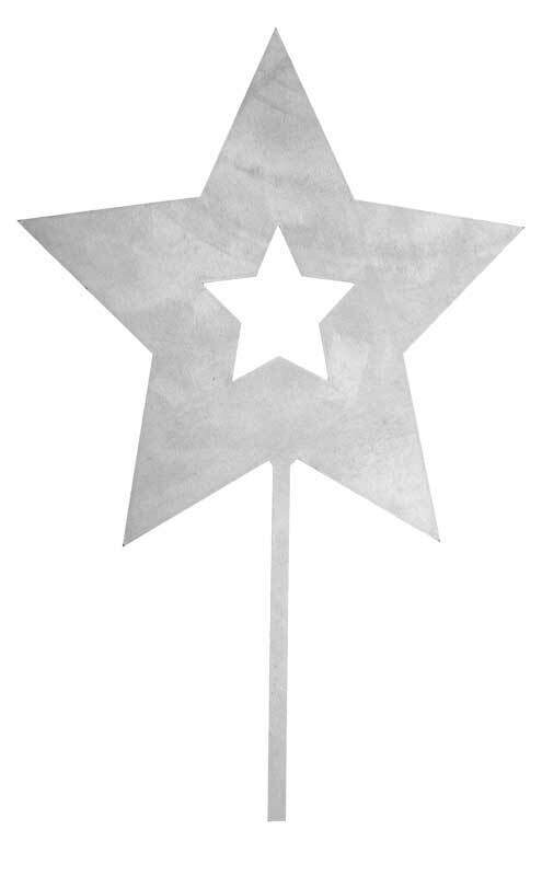 Stern aus Metall, 240 mm