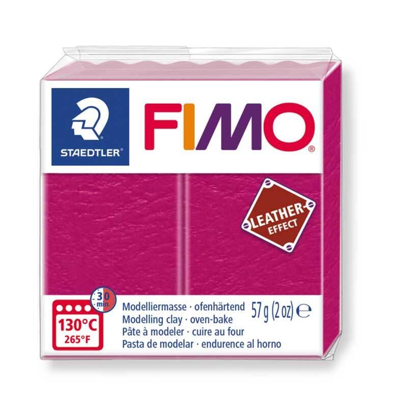 Fimo Ledereffekt - 57 g, beere