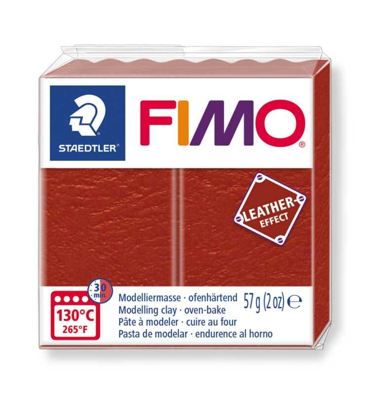 Fimo Effet cuir - 57 g, brun rouille