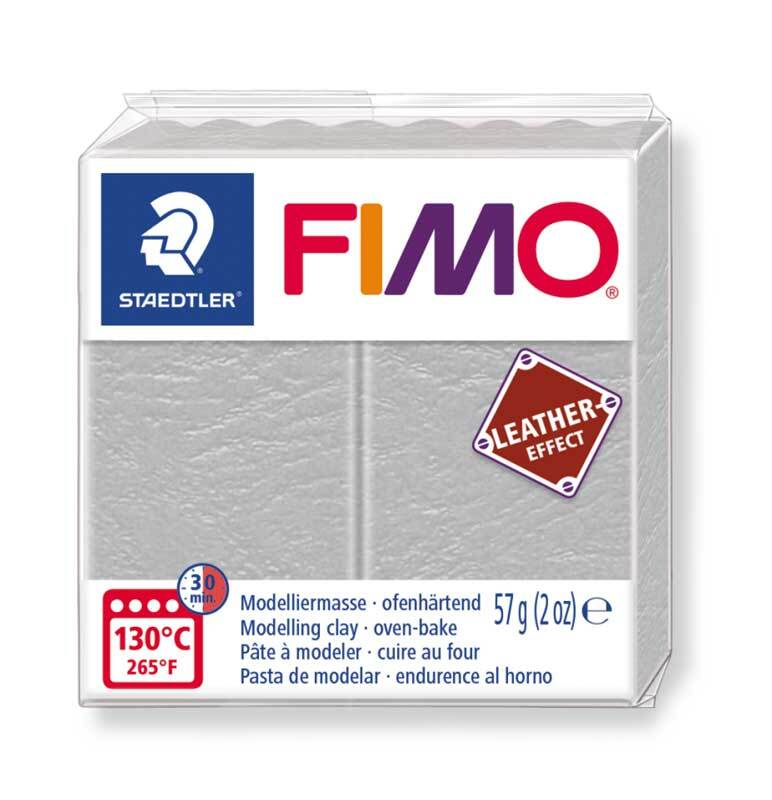 Fimo Effet cuir - 57 g, gris pigeon