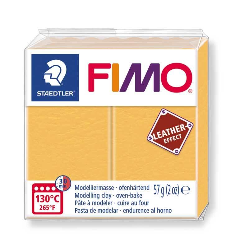 Fimo Leather effect - 57 g, safraangeel