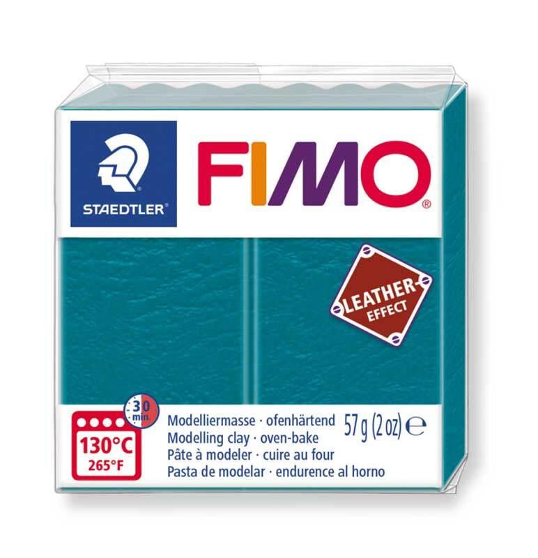 Fimo Leather effect - 57 g, lagune groen