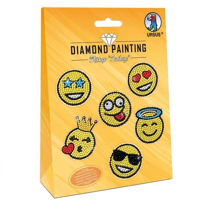 Diamond Painting Set - Sticker, Smileys