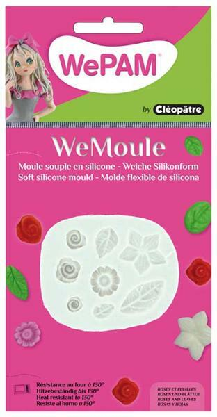 WeMoule siliconenvorm, rozen en bladeren