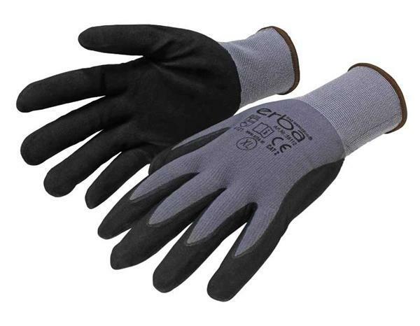 Handschuhe Polyester Feinstrick - schwarz, Gr. XL