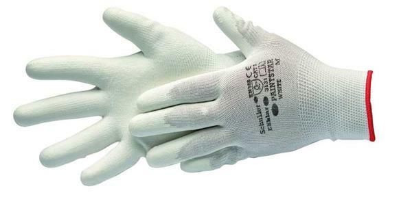 Gants de protection mailles fine - blanc, taille M