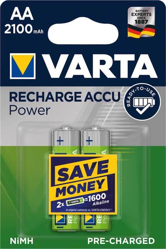 Batterie Varta 1,2 V; AA - Wiederaufladbar, 2 Stk.