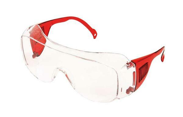 Schutzbrille, rot
