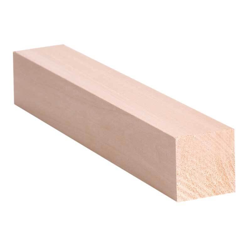 Lindenholz - 20 cm, 3 x 3 cm