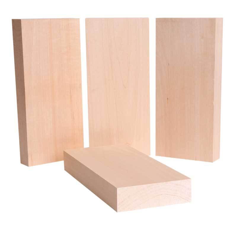 Blocs bois de tilleul - 4 pces, 220 x 100 x 30 mm