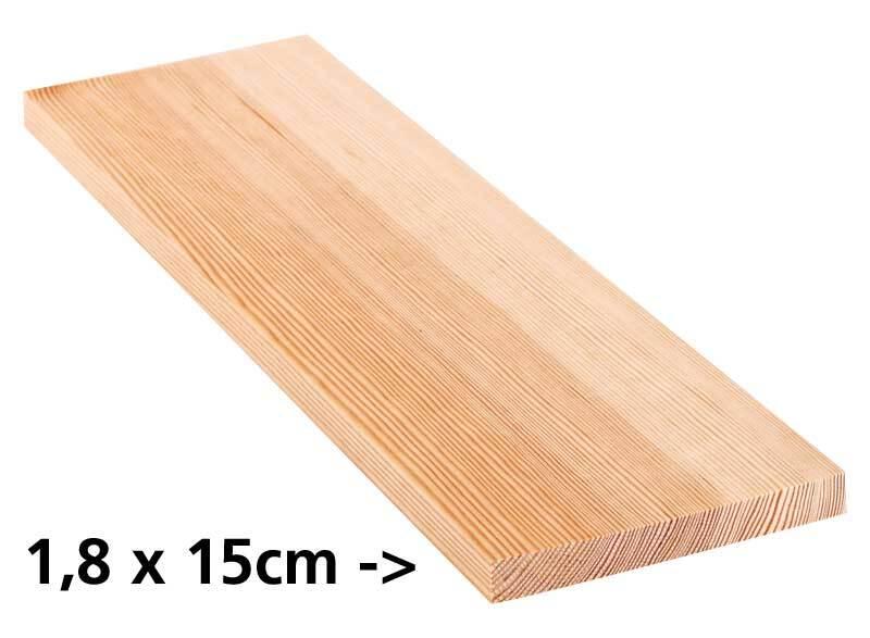 Grenen plank - 10 cm, 1,8 x 15 cm
