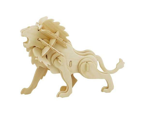 Houten bouwset - leeuw, 18 x 7 x 13 cm
