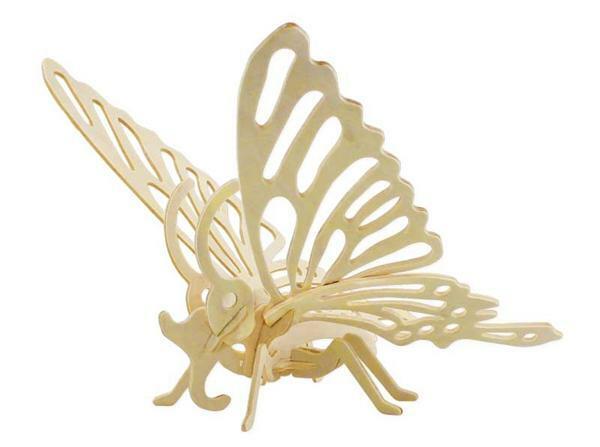 Holzbausatz Schmetterling, 22 x 24 x 19 cm