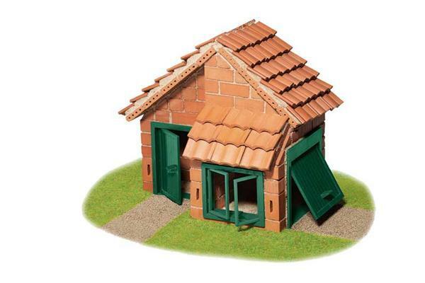 Steinbaukasten - Haus mit Ziegeldach