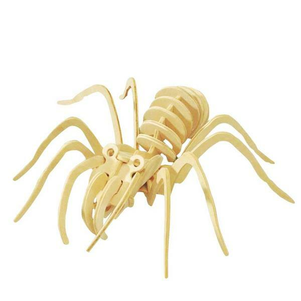 Holzbausatz Spinne, 19 x 22 x 6,5 cm
