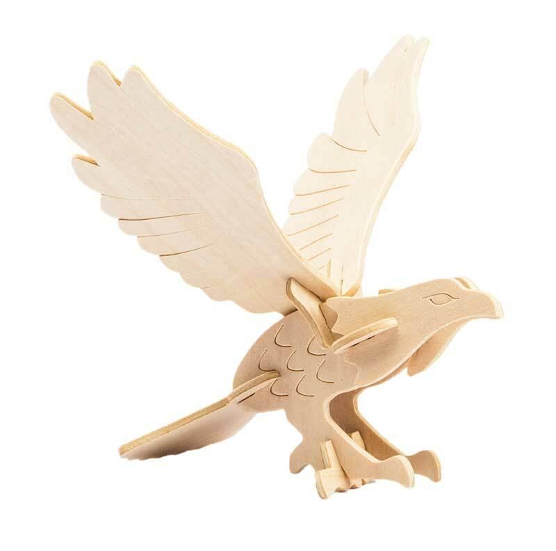 Holzbausatz Adler, 13 x 19 x 13 cm
