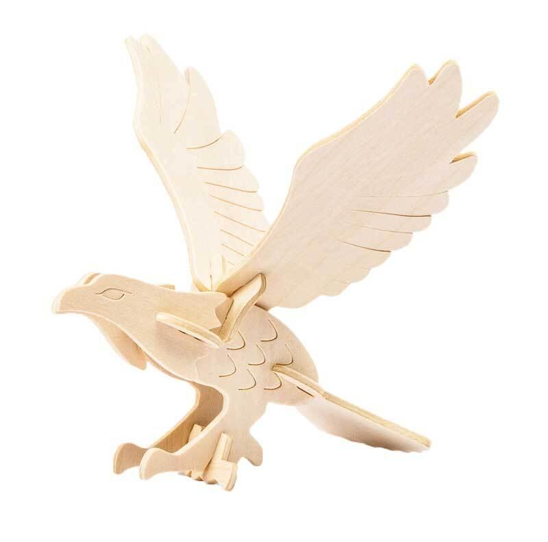 Holzbausatz Adler, 12,5 x 19 x 12,5 cm