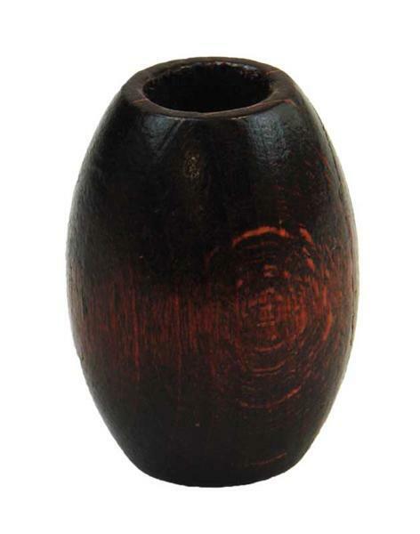 Makrameeolive - braun lack., 22 x 32 mm