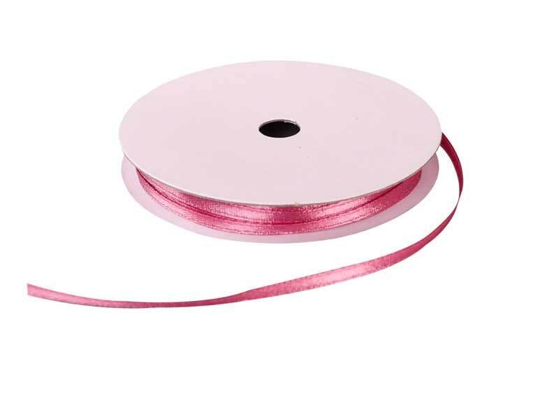 Rubans satin avec lisière - 3 mm, vieux rose