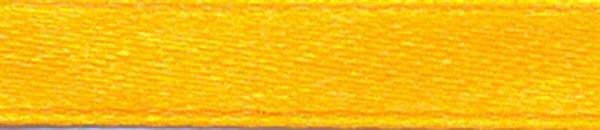 Satinband mit Webkante - 6 mm, gelb