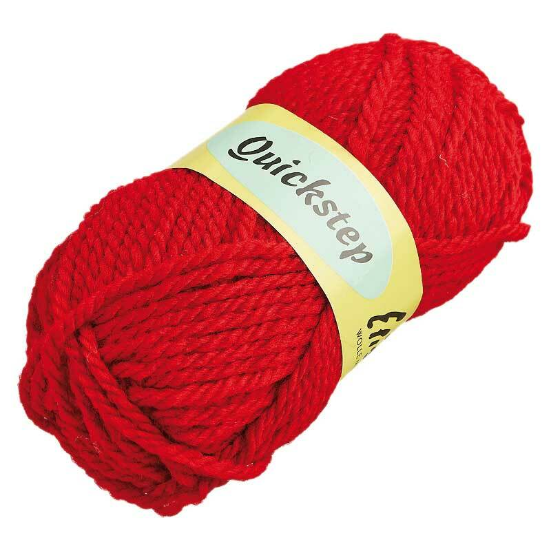 Wolle Quickstep - 50 g, rot