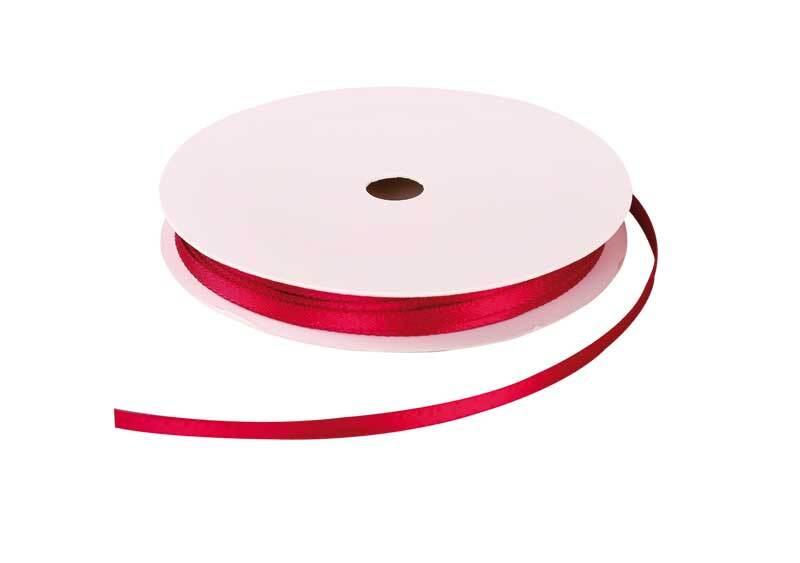 Satinband mit Webkante - 3 mm, beere