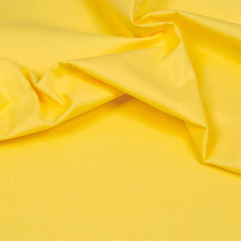 Katoenen stof - effen, geel