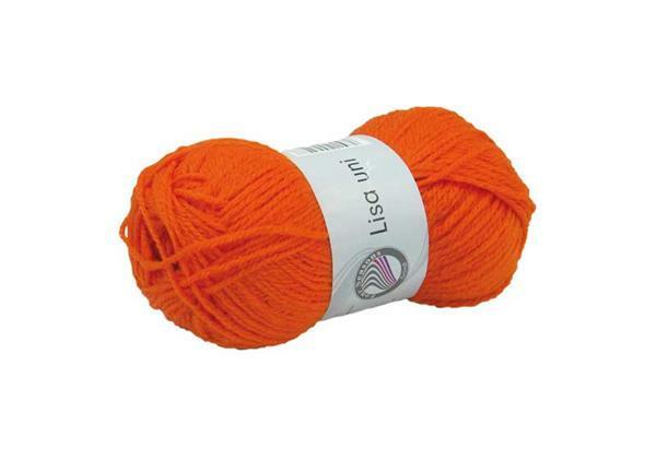 Schulwolle Lisa - 50 g, orange
