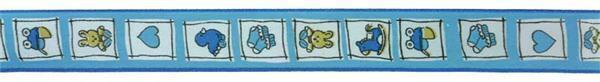Ruban de soie 25 mm - bébé, bleu clair