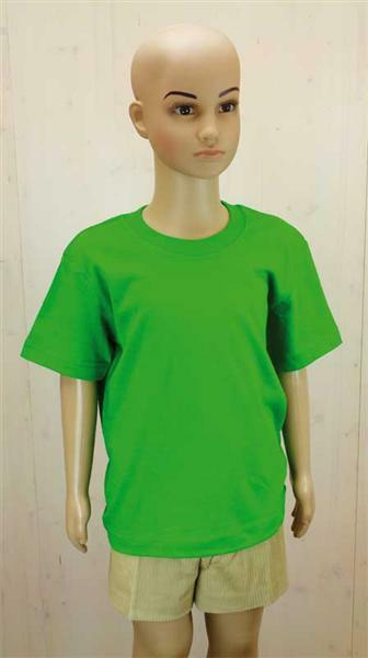 T-shirt kind - groen, L