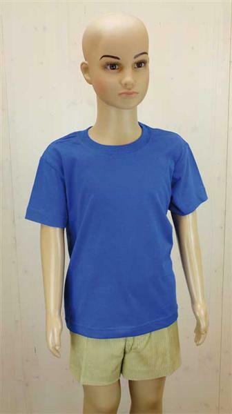 T-shirt kind - blauw, L