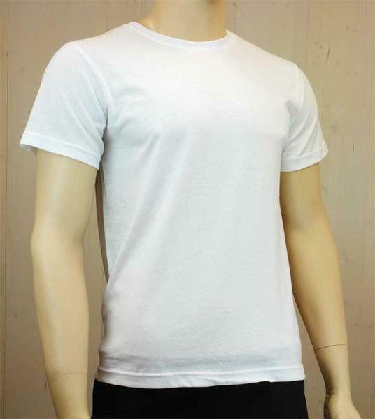 T-Shirt man - wit, maat L